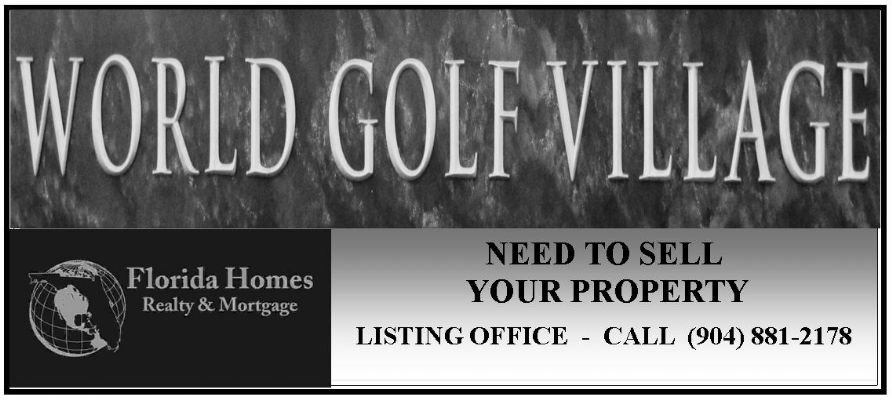 World Golf Village Jacksonville FL Real Estate